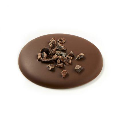 Palets chocolat au lait aux pépites de grué de cacao