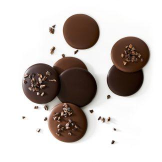 Palets chocolat noir et lait