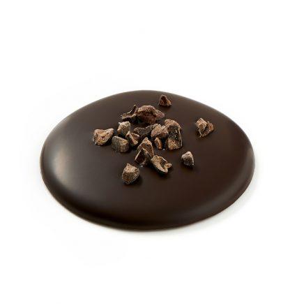 Palets chocolat noir aux pépites de grué de cacao