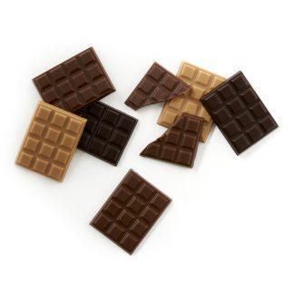 Mini-tablettes Chocolat lait, noir et caramel