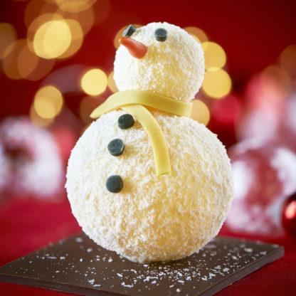 Bonhomme de neige chocolat blanc profil